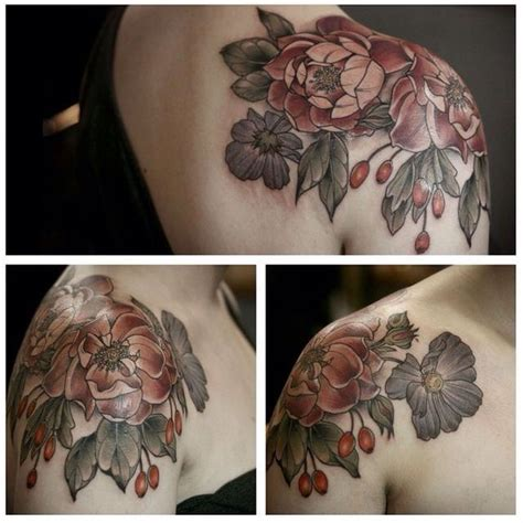 flower shoulder cap tattoo 1000 ideas about flower shoulder tattoos on