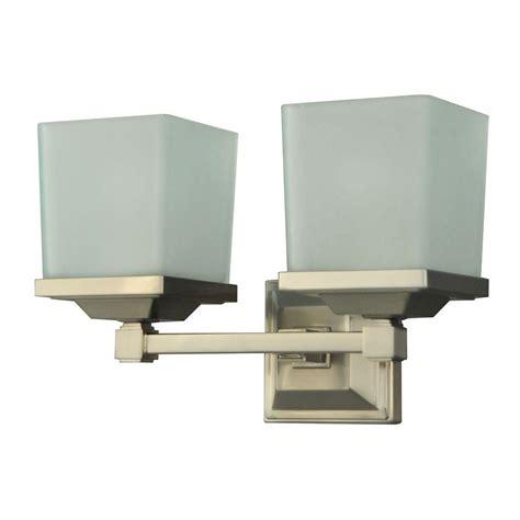 Stewart Lighting by Hton Bay 2 Light Brushed Nickel Vanity Light Egm1392a 3