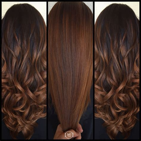 average cost for cut color and balayage highlights balayage cinnamon color long hair hair by emilio v
