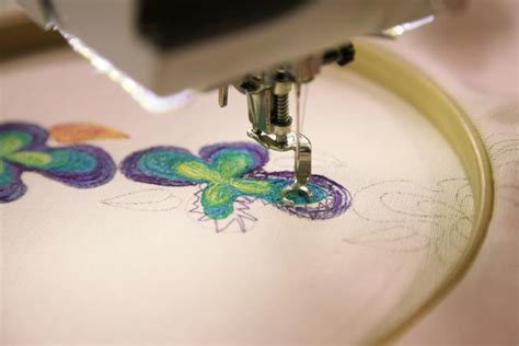 how to do embroidery with free motion embroider drawing with your sewing machine