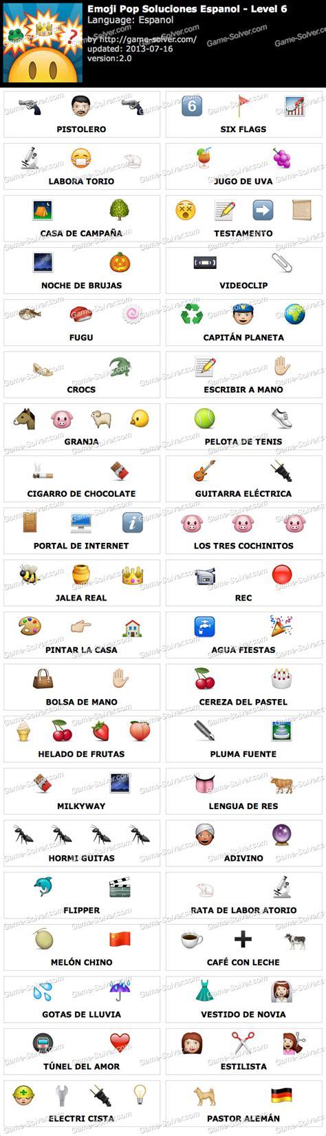 imagenes emoji quiz respuestas emoji pop nivel 6 game solver