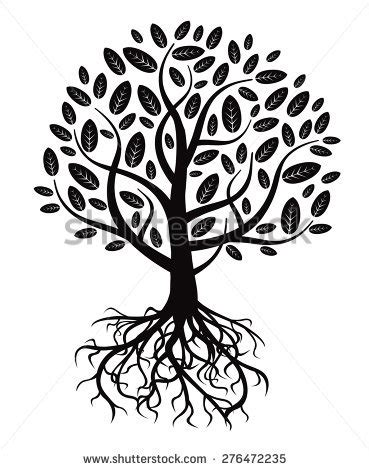 illustration tree roots stock illustration 16716217