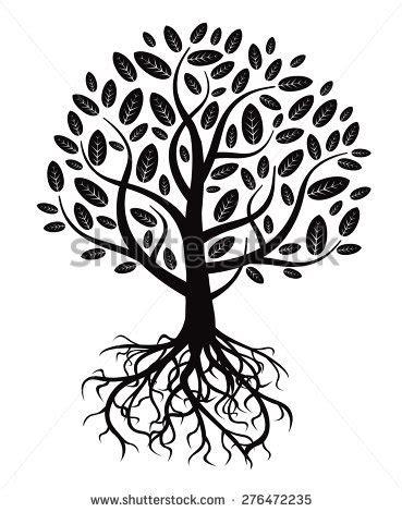 illustration tree roots stock illustration 16716217
