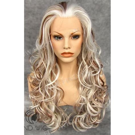 blonde highlighted wigs highlighted wig wavy blond highlighted long wig wigs online
