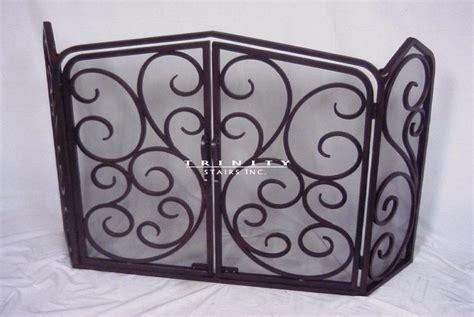 Decorative Fireplace Screens Wrought Iron by Metal Fireplace Screens Home Design