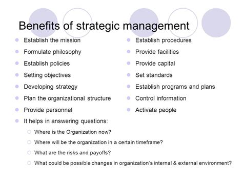 Management Strategic 6 strategic management an introduction ppt
