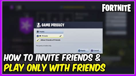 fortnite redeem code how to invite your friends only play mission with your