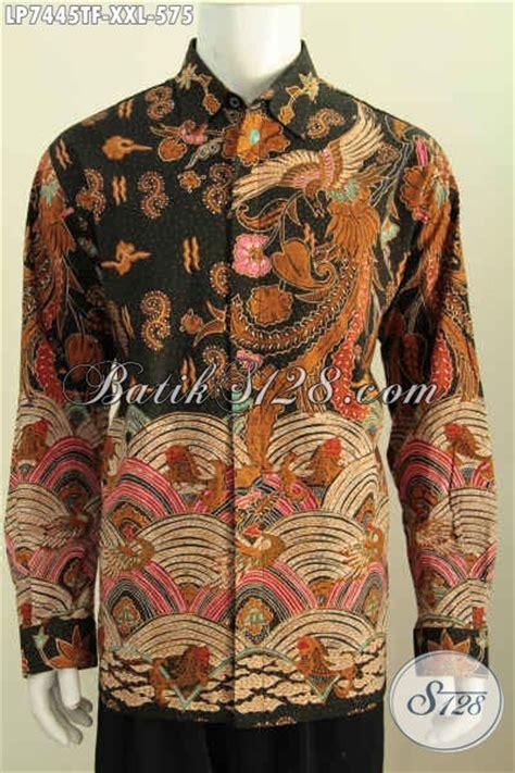 Hem Batik Pria Katun Premium Ukuran Jumbo Hrb 055 baju batik jumbo lengan panjang furing hem batik