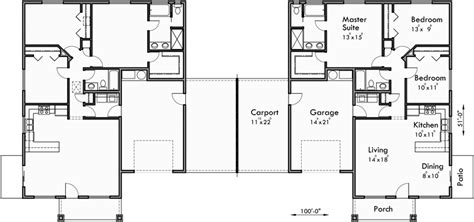 single story duplex floor plans duplex house plans one story duplex house plans d 590