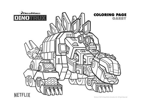 dinotrux coloring page free dreamworks dinotrux garby printable coloring page