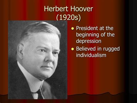 herbert hoover rugged individualism ppt important figures powerpoint powerpoint presentation id 1441880