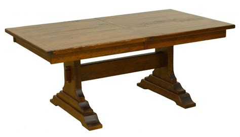 Dining Table Wood Types Solid Wood Farmhouse Trestle Table With 1 1 2 Quot Thick Top 5 Wood Types And Any Size You Want