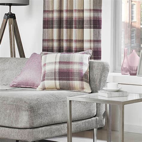 scatter cushion sofa warm cosy rustic tartan check scatter cushion with