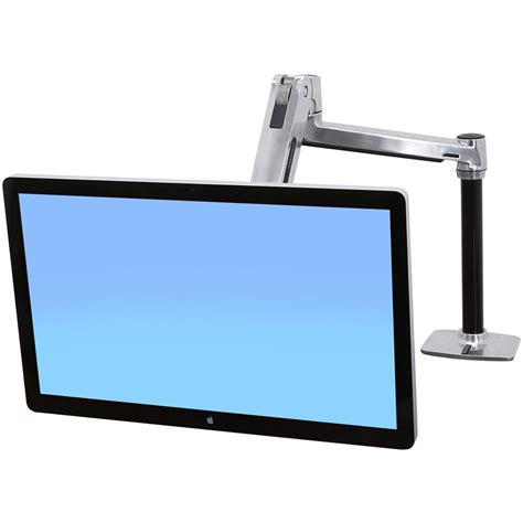desk mount tv stand sit stand desk monitor arm ergotron 45 384 026