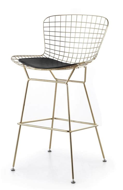 Bertoia Bar Stool Gold by Bertoia Wire Counter Stool In Gold Finish Bar Counter