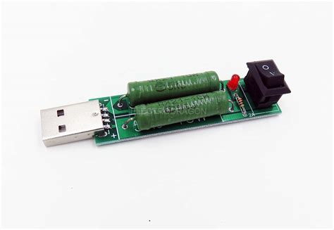 power resistor test usb load resistor for testing 2a 1a constant discharge electrodragon