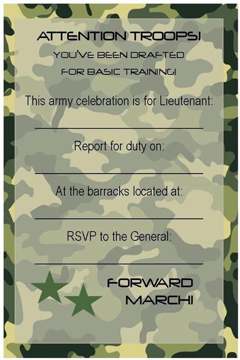 free camo birthday card template free printable invitations army car racing swim