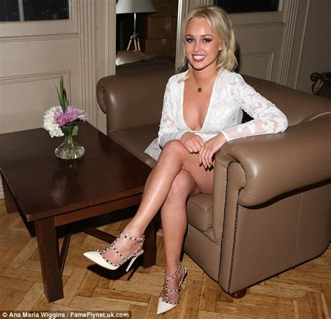 She Hers Perlak Mini By She Hers jorgie porter shows cleavage in plunging