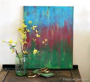 diy abstract art painting thrift store decor petticoat