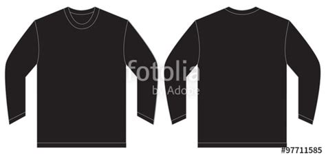 Quot Black Long Sleeve T Shirt Design Template Quot Stock Image And Royalty Free Vector Files On Fotolia Black Sleeve Shirt Template