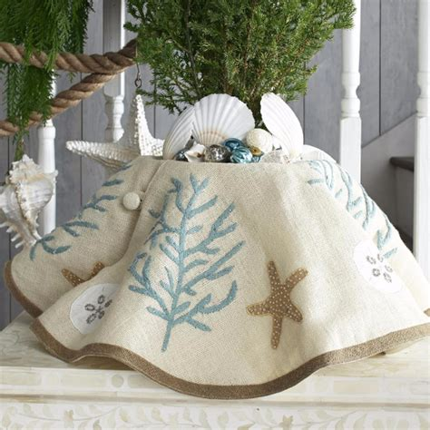 beach themed tree skirt d 233 cor ideas and tree ornaments with a coastal theme family net guide to