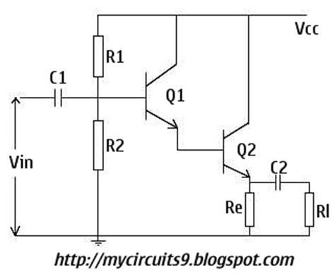 darlington transistor circuit analysis darlington lifier my circuits 9
