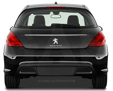 peugeot 308 trunk peugeot 308 rear chrome trunk lid trim rear chrome trim
