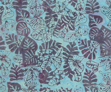 Batik Patchwork Fabric - quilting patchwork sewing fabric batik lush blue leaves