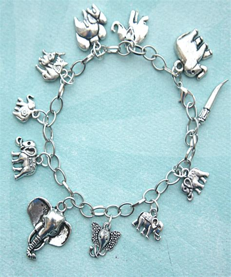 charms for jewelry elephant charm bracelet from jillicious elephants