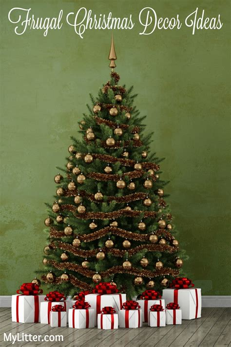 frugal christmas tree decor ideas mylitter one deal at