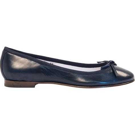 navy leather ballerina flats paolo shoes