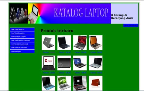 Membuat Website Katalog | cara membuat katalog atau toko online dengan php dan mysql