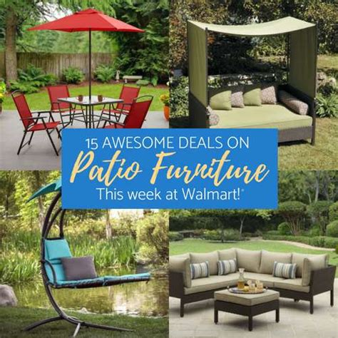 walmart patio furniture deals cheap sets and sales on