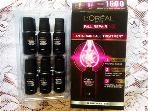Shoo Loreal Anti Hair Fall with l oreal fall repair 3x anti hair fall leave yvonne and playground singapore