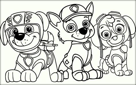 paw patrol coloring pages color zini