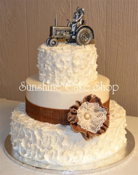 Wedding Cake Edible Lace by Burlap And Lace Rustic Wedding Cake Cakecentral