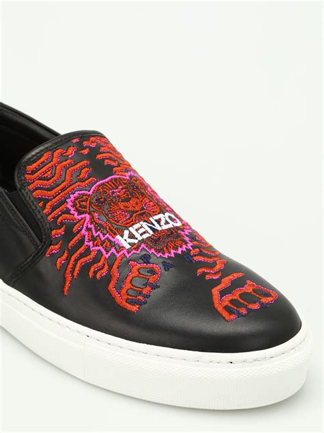 Fashion Slip On 003 tiger leather slip ons by kenzo trainers ikrix