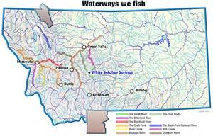 Montana Rivers Map by River Map Montana Flyfishing Connection