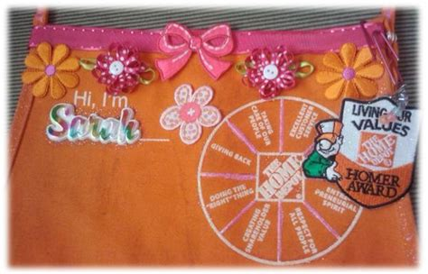 my custom home depot apron i the pink flowers and