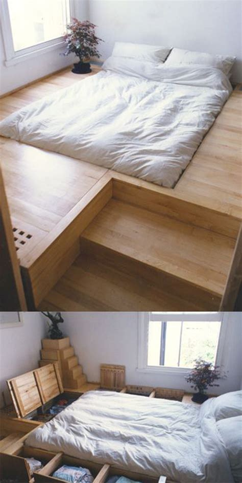 Sunken Bed Frame 10 Smart Floor Storage Ideas For Small Space Solutions House Design And Decor