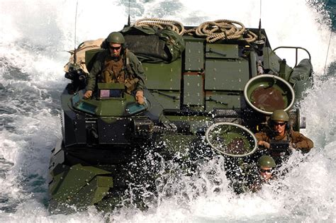 hibious vehicle marines amphibious attack vehicle
