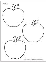 Apples Printable Templates Coloring Pages Firstpalette Com Apple Pages Card Template