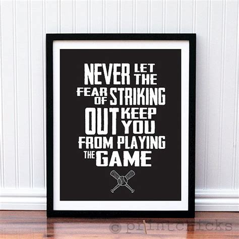 posters for boys bedrooms baseball print custom baseball quote poster boys room