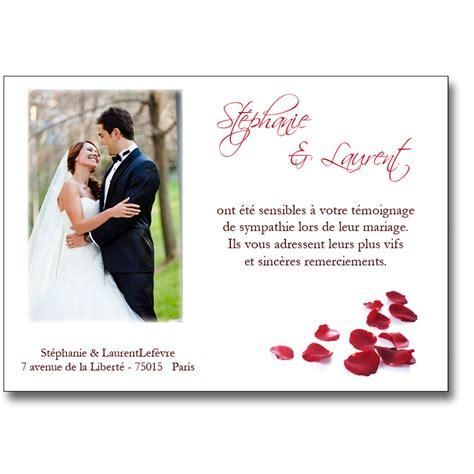 Faire part remerciement marriage aimants
