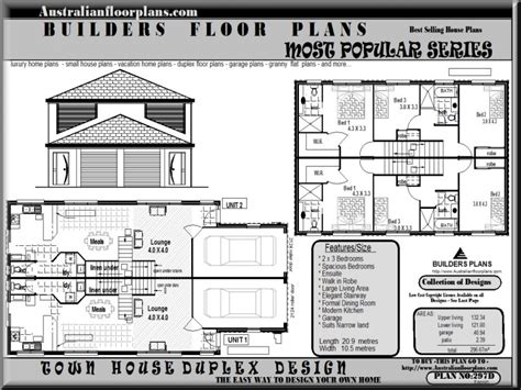 Multiple Family Housing Duplex 2 Story Duplex House Plans Two Storey Duplex House Plans