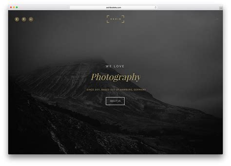 Top 34 Html5 Photography Website Templates 2018 Colorlib Photography Template