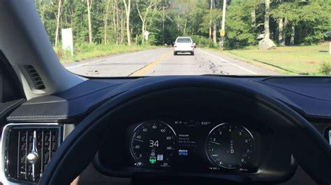 volvo  pilot assist ii feature demonstration  test drive semi autonomous vehicle