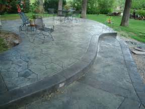 colored concrete patio home design
