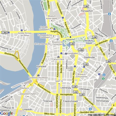 dusseldorf map map of dusseldorf germany hotels accommodation