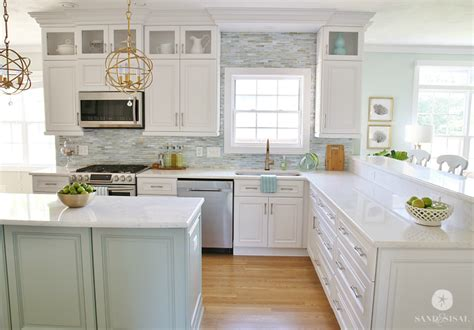 coastal kitchen cabinets coastal kitchen makeover the reveal